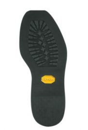 Vibram® Black Mini Lug Square Toe